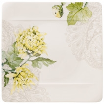 Villeroy and Boch Quinsai Garden Square Dinner Plate : Chrysanthemum