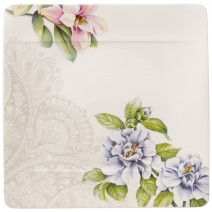Villeroy and Boch Quinsai Garden Square Dinner Plate : Camellia
