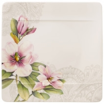 Villeroy and Boch Quinsai Garden Square Dinner Plate : Magnolia