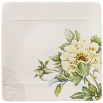 Villeroy and Boch Quinsai Garden Square Dinner Plate : Peony