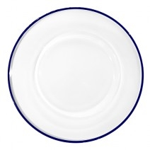 Villeroy and Boch Verona Aria Charger : Clear with Blue Filet