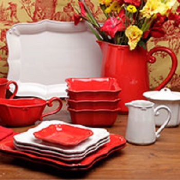 Casafina Vintage Port Red Dinnerware