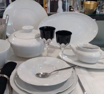 Vista Alegre CROWN WHITE Dinnerware Selection