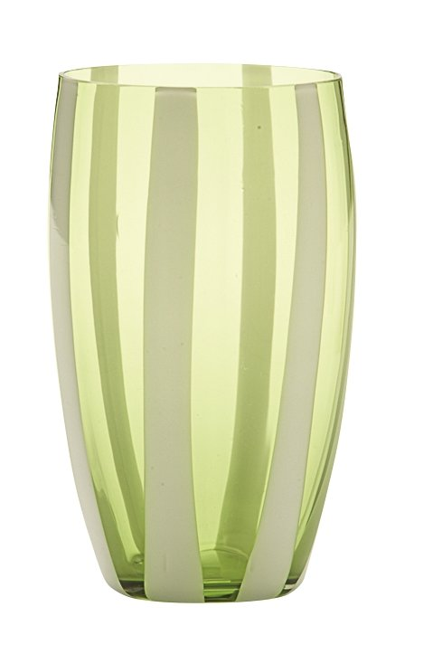 Zafferano Gessato Tumbler Apple Green - pair