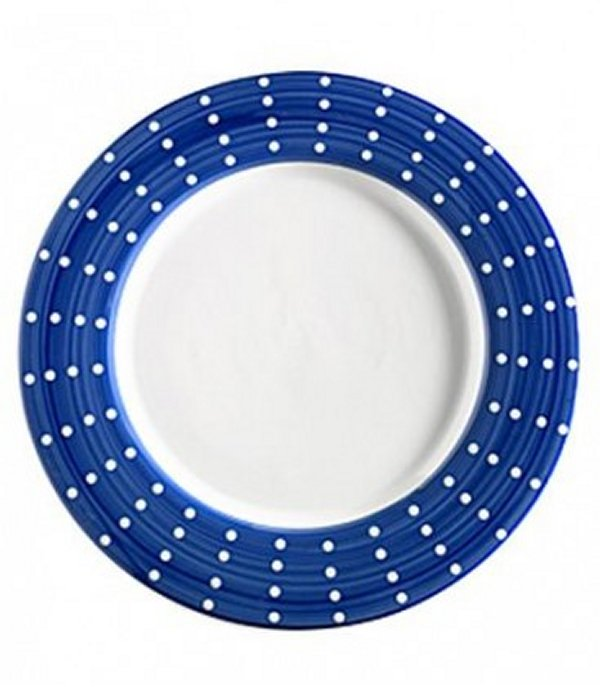 Zafferano Perle Porcelain Plate Blue - pair