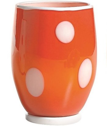 Zafferano Bon Bon Tumbler Orange With White Dots - pair