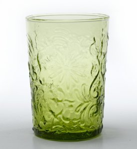 Zafferano Barocco Tumbler Rock Apple Green - set of 6