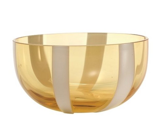 Zafferano Gessato Bowl Amber - pair