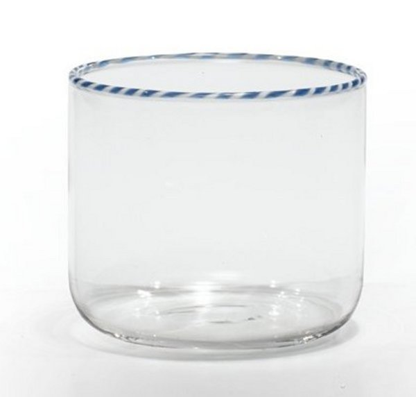 Zafferano Intrecci Tumbler  Blue/White - pair