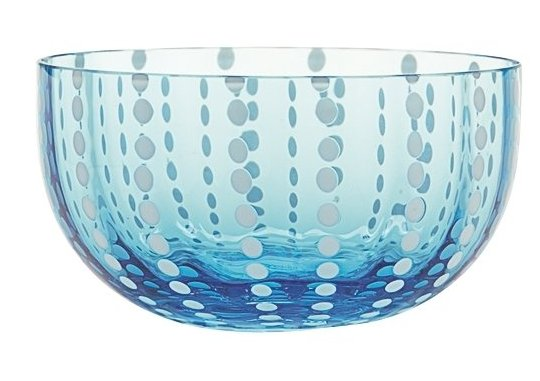 Zafferano Perle Bowl Aquamarine - pair