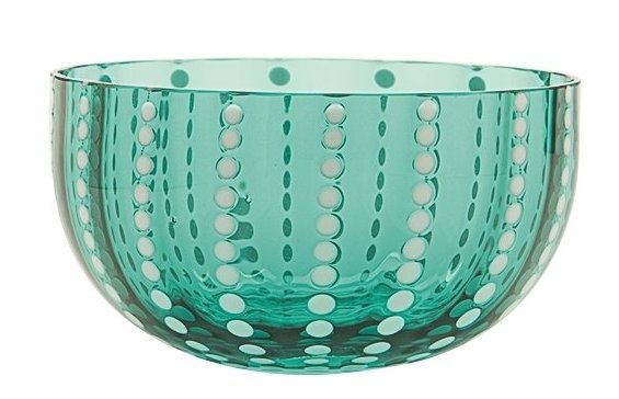 Zafferano Perle Bowl Green - pair