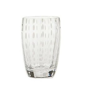 Zafferano Perle Tumbler clear - pair