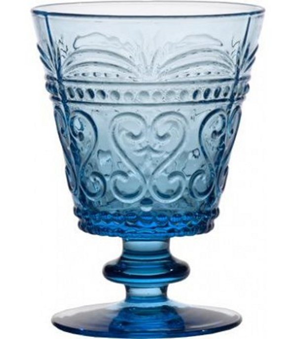 Zafferano Provenzale Water Goblet Turquoise - set of 6