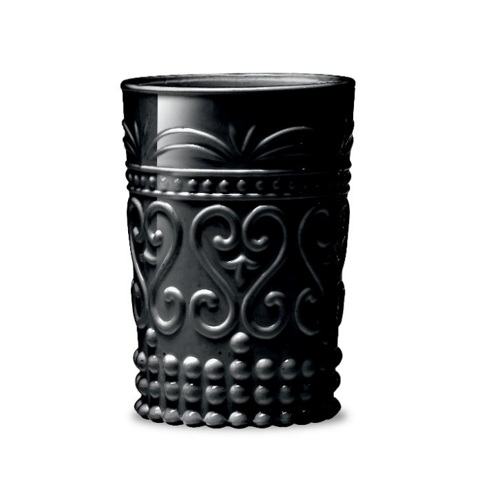 Zafferano Provenzale Tumbler Rock Black - set of 6