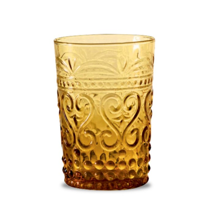 Zafferano Provenzale Tumbler Rock Amber - set of 6