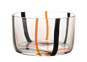 Zafferano Tirache Bowl  Black-Orange - set of 6