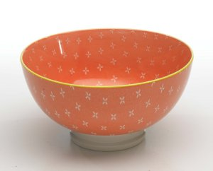 Zafferano Tue Bowl Medium Orange - set of 6