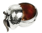 Michael Aram Apple Honey Pot with Spoon-Silver