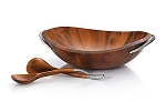 Nambe Braid Collection Salad Bowl and Servers