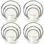Noritake Chatelaine Platinum 20Pc Set(4 X 5Pc Setting)