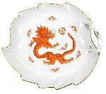 Meissen Ming Dragon Red Candy Dish