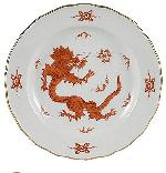 Meissen Ming Dragon Red Soup Plate, 9.5 in.