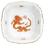 Meissen Ming Dragon Red Square Bowl, 7.25 in.
