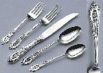 Wallace Rose Point Sterling 4-Piece Dinner Size