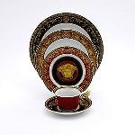 Versace Medusa Red 5 Pc Setting