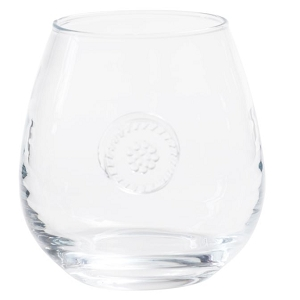 Juliska Berry & Thread Glassware Stemless Red Wine
