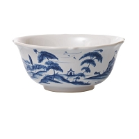 Juliska Country Estate Delft Blue Cereal/Ice Cream Bowl Hen House