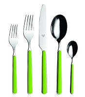 Mepra FANTASIA Acid Green 5 Piece Place Setting