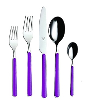 Mepra FANTASIA Violet 5 Piece Place Setting