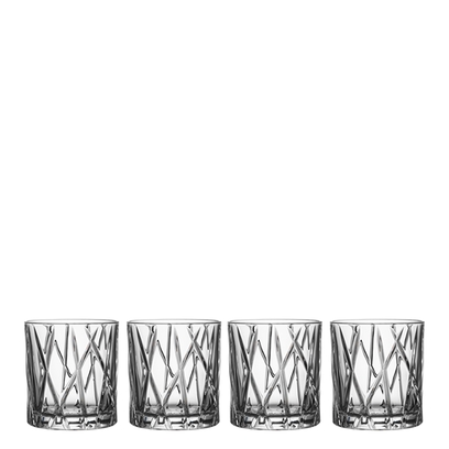 Orrefors City Old Fashioned (set of 4)