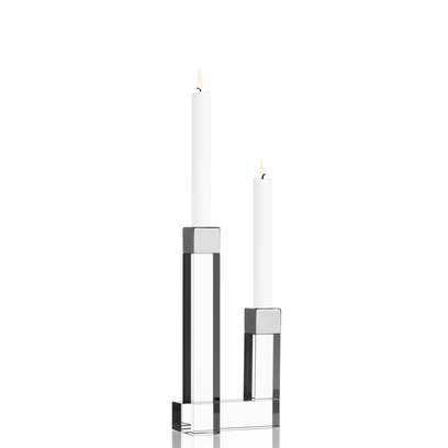 Orrefors Chimney Candleholder (2 arm),9 3/4 x 5 1/8 in.