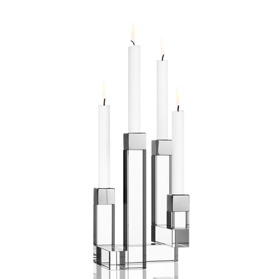Orrefors Chimney Candleholder (4 arm),10 1/4 x 6 1/2 in.