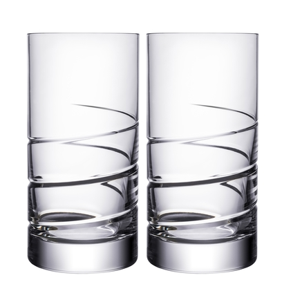 Orrefors Swerve Tumbler (pair),6 x 2 3/4 in.19 oz.