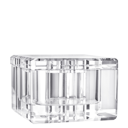 Orrefors Ice Box with Lid,2 1/3 x 3 1/2 in.
