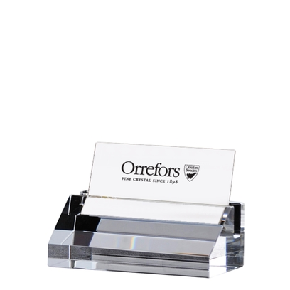 Orrefors Wall Street Business Card Holder,2 3/8 x 4 1/2 in.