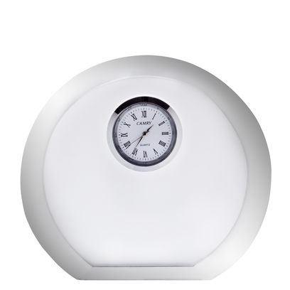 Orrefors Vision Round Desk Clock,1 1/9 x 4 5/7 x4 in.