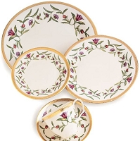 Pickard Dominique Ivory 5 Piece Place Setting