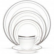 Noritake Hampshire Platinum Dinnerware