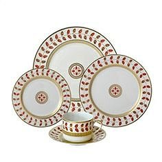 Bernardaud Constance Red 5 Pc Setting