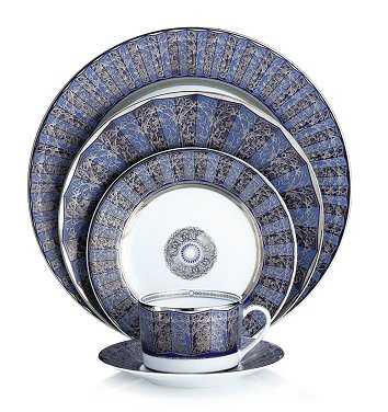 Bernardaud Eventail Blue 5 Pc Setting