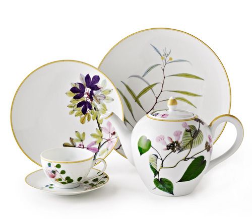 Bernardaud Jardin Indien 5 Pc Setting