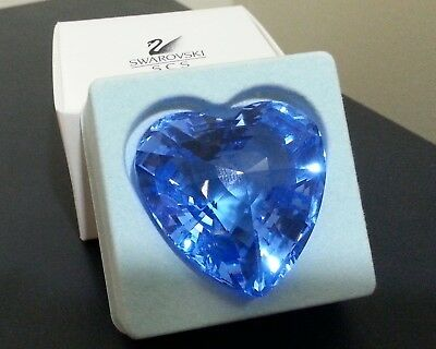 Swarovski Blue Faceted Crystal Heart Membership Gift