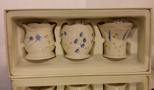 Classic Lenox Set Of Three Floral Votives