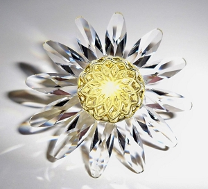 Swarovski SCS 1999 1 Year Renewal Gift Yellow Daisy