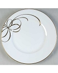 Kate Spade Retired Belle Boulevard Gold Dinner Plate