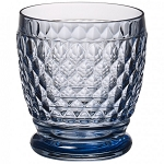 Villeroy and Boch Boston Colored Blue Double Old Fashioned 11 0z